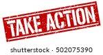 take action. grunge vintage... | Shutterstock .eps vector #502075390
