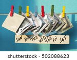 condoms on colorful clothespins.... | Shutterstock . vector #502088623