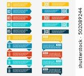 set of abstract logo  symbols... | Shutterstock .eps vector #502089244