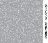 halloween seamless background ...   Shutterstock .eps vector #502091320