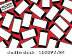many smart phones on a red... | Shutterstock .eps vector #502092784
