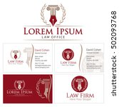 law logo with column and wreath ...   Shutterstock .eps vector #502093768