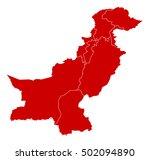 map   pakistan | Shutterstock .eps vector #502094890