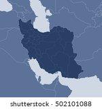 map   iran | Shutterstock .eps vector #502101088