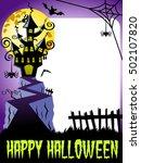 happy halloween photo frame... | Shutterstock .eps vector #502107820