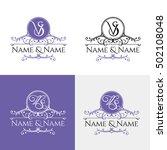 set of elegant floral monogram...   Shutterstock .eps vector #502108048