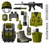 Military Weapon Guns Symbols...