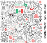 mexico. traditional symbols  ... | Shutterstock .eps vector #502108450