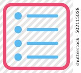 items pink and blue vector icon....