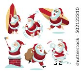 cartoon santa claus collection... | Shutterstock .eps vector #502122310