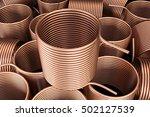 copper heat exchanger. 3d...   Shutterstock . vector #502127539
