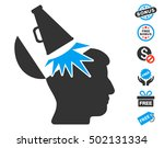 open mind megaphone icon with...