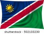 namibian national official flag.... | Shutterstock . vector #502133230