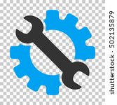 blue and gray service tools... | Shutterstock .eps vector #502135879