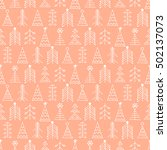 seamless raster pattern with... | Shutterstock . vector #502137073