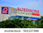 Small photo of CEBU, PH - OCT. 11: Robinsons Cybergate mall facade on October 11, 2016 in Cebu City, Philippines. Robinsons Cybergate Cebu is a seven-story mixed-use development built by Robinsons Land Corporation.