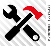 intensive red and black hammer... | Shutterstock .eps vector #502141699