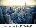 view of new york city across... | Shutterstock . vector #502144648