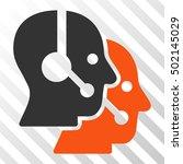 orange and gray call center... | Shutterstock .eps vector #502145029