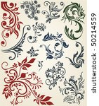 ornament design floral decor | Shutterstock .eps vector #50214559