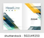 set of business straight lines... | Shutterstock .eps vector #502149253