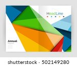 3d low poly shapes design for... | Shutterstock .eps vector #502149280
