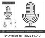 retro microphone vector line... | Shutterstock .eps vector #502154140
