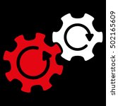 gears rotation vector icon....   Shutterstock .eps vector #502165609