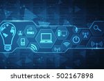 digital abstract technology... | Shutterstock . vector #502167898
