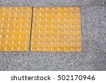 sidewalk guides for the blind | Shutterstock . vector #502170946