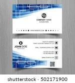 modern business card template | Shutterstock .eps vector #502171900