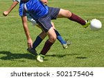 kids are playing soccer outdoors | Shutterstock . vector #502175404