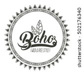 boho circle bohemic and... | Shutterstock .eps vector #502176340