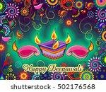 vector design of diwali... | Shutterstock .eps vector #502176568