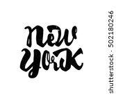 new york   hand drawn ... | Shutterstock .eps vector #502180246