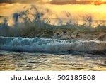 greenyellow blue sunset rough...   Shutterstock . vector #502185808