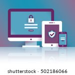 computer  tablet and mobile... | Shutterstock .eps vector #502186066