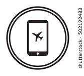 aircraft icon. flat design. | Shutterstock .eps vector #502192483