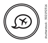 aircraft icon. flat design. | Shutterstock .eps vector #502192516