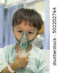 select focus boy patient in... | Shutterstock . vector #502202764