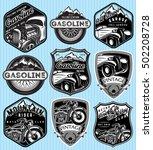 vector stylish set of badges...   Shutterstock .eps vector #502208728
