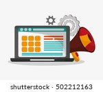 laptop and digital marketing... | Shutterstock .eps vector #502212163