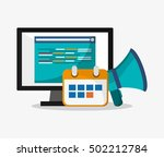 computer and digital marketing... | Shutterstock .eps vector #502212784