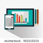 tablet and digital marketing... | Shutterstock .eps vector #502213213
