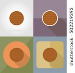 wooden board  flat icons vector ... | Shutterstock .eps vector #502219393