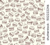 vector seamless pattern with... | Shutterstock .eps vector #502222246
