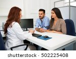 husband and wife in a clinic ... | Shutterstock . vector #502225408