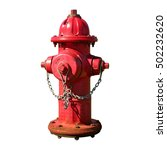 Red Fire Hydrant With A Chain....