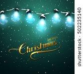 merry christmas. christmas... | Shutterstock .eps vector #502235140