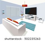 modern interior living room  in ... | Shutterstock .eps vector #502235263